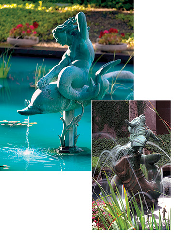 Sun Glitter and Jonah and the Whale by Carl Milles